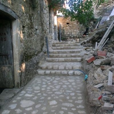 during the renovation works